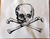 Skull and Crossbones Screen Print Patch