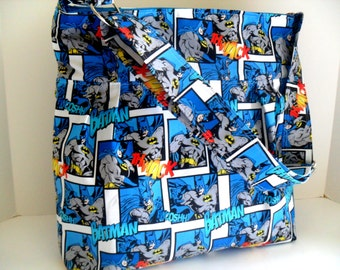 Batman Diaper Bag - Messenger Bag - Crossbody - Diaper Bag