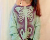 Blue and purple Skeleton rib cage sweater