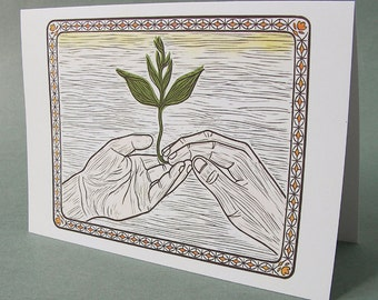 5 x 7 Notecard - A024 TOUCH // wedding card / anniversary card / friendship card / Valentine's Day card / thank you card / nature card