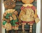 School Daze Epattern primitive school dolls!