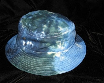 Oceans Blue Tye Dye Gilligans Island Bucket Hat Youth and Adult Sizes