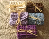 Traditional Solid Cotton Washcloths Or Dishcloths