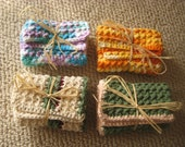 Traditional Patterned Cotton Washcloths Or Dishcloths