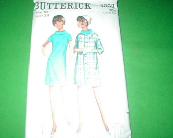 Vintage Butterick Pattern 4353 Ladies Dress and Coat