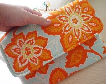 Apple iPad Mini Sleeve, Tablet Cover, Envelope Case (Ornate Floral in Amber)