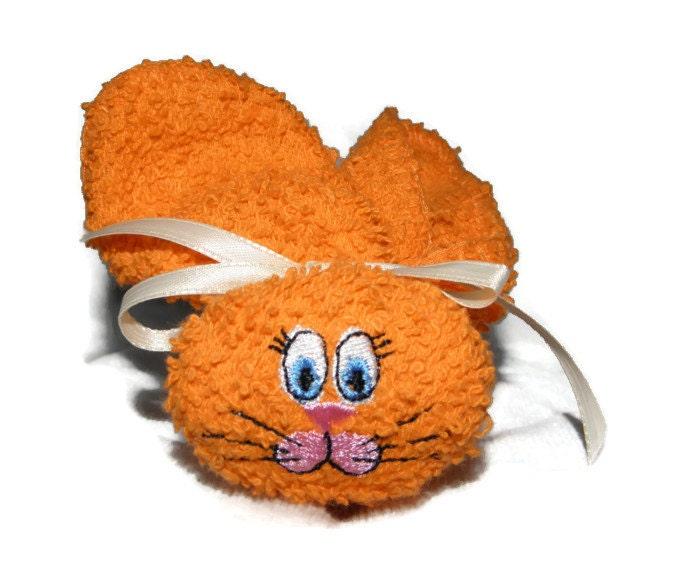 Washcloth Bunnies: Washcloth Boo Boo Bunny Ice Pack Boo-boo Bunny Embroidered For