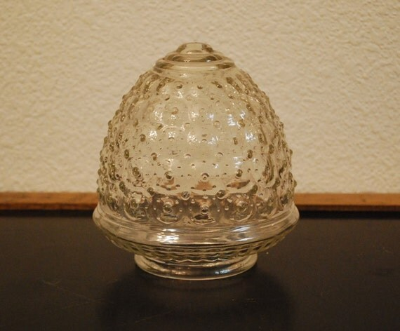 Ceiling Light Cover Only : Vintage glass ceiling globe light cover by