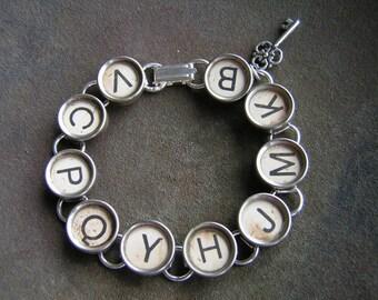 RANDOM in Ivory - Vintage Typewriter Key Bracelet