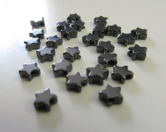 3.5mm Hematite Star-shaped Beads - 25 pieces