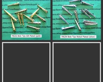 "Bolo Tips - Embossed Steel - 1 3/8"" long - 36 pcs"