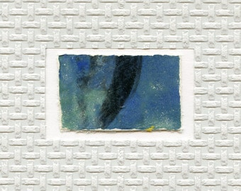 Minimalist Textured Art // ooak /  greeting card 5 / gelatin print