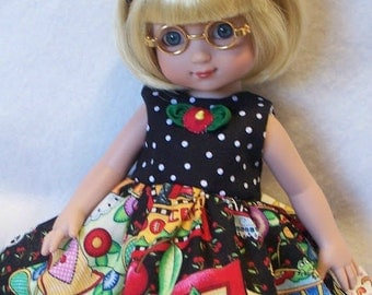 """Doll Dress For AG 14"""" American Girl Wellie Wishers Ann Estelle Betsy McCall Ginny Corolle"""