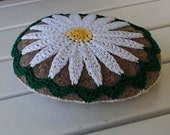 Daisy Crochet Lace Stone Table Decoration