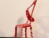 Miniature Pink Wacky straight chair