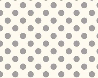 Swiss Dot Medium - Le Creme - Fabric By Riley Blake - Gray - 8.95 Dollars