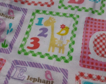 Girl's Alphabet Baby Blanket