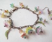 Dainty Pastel Charm Bracelet Set Fairy Skirts