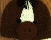 Horse Beanie Skullcap-all sizes newborn through adult