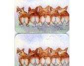 2 x Welsh Corgi coasters - Enid Blyton five run away together