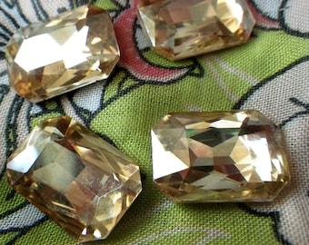 Light Colorado Topaz 18x13mm Octagon Glass Gems 6 Pcs