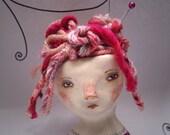 Little Knitty. Original Clay Art Doll