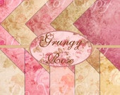 Buy 1 Get 1 FREE Grungy Rose Shabby Chic Scrapbooking Digital Paper Pack Instant DOWNLOAD
