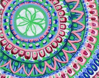SALE Original Mandala Visionary Spiritual Art Painting: Visions of Marrakesh II