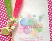 Bubble Birthday party, Personalized candy bags, bubble Favor bags, Bubble party favors, Candy Buffet, Birthday party, Sweets, Treats