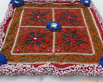 Afghanistan: Vintage Embroidered Zazi Doily, Item E67