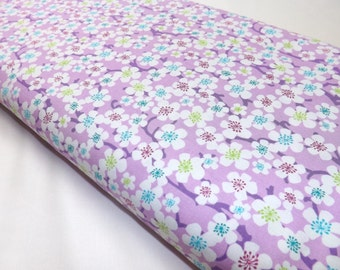 Michael Miller Blossom Blur in Orchid Violet Quilting and Sewing Fabrics Purple Flowers Floral