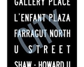 Washington DC Subway Art II Print 11.75x36