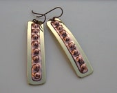 Mixed Metal Popped Copper Earrings
