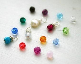 ONE Birthstone color swarovski crystal bead add on