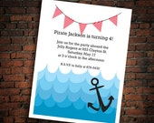Pirate/Anchor Birthday Party Invitation (printable)