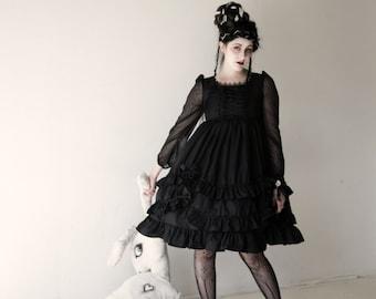 Gloomth Lyre Corset Babydoll Dress