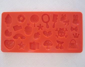 Decoden Sweets Mod Podge mold - 7 designs  resin, polymer clay, mod melts, candy, utee, plaster, wax, soap, epoxy clay