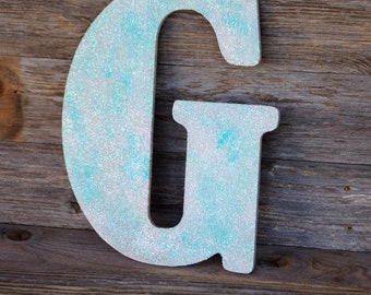Large Wood Letter Any Color Glitter Sparkle Bling 18 inch Tall Photo Prop Wedding Sign Romantic Wedding Decorations Crystal Elegant