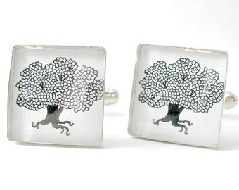Square Logo Cufflinks. Customizable for You and Made to Order