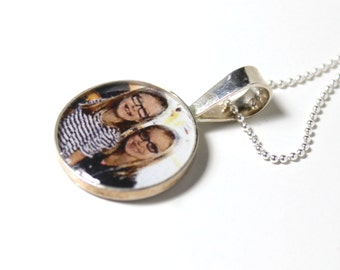 Best Sister Ever Personalized Photo Necklace