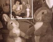 Bunny Stuffed animal toy vintage 80s Sewing pattern McCalls 8951 Bunny rabbit stuffie Uncut