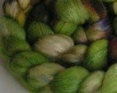 Fiber Roving Top BFL Silk EARLY GARDEN Top Hand Painted Wool Spin Felt Craft Roving 4 ounces
