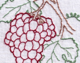 Grapes Hand Embroidery Pattern
