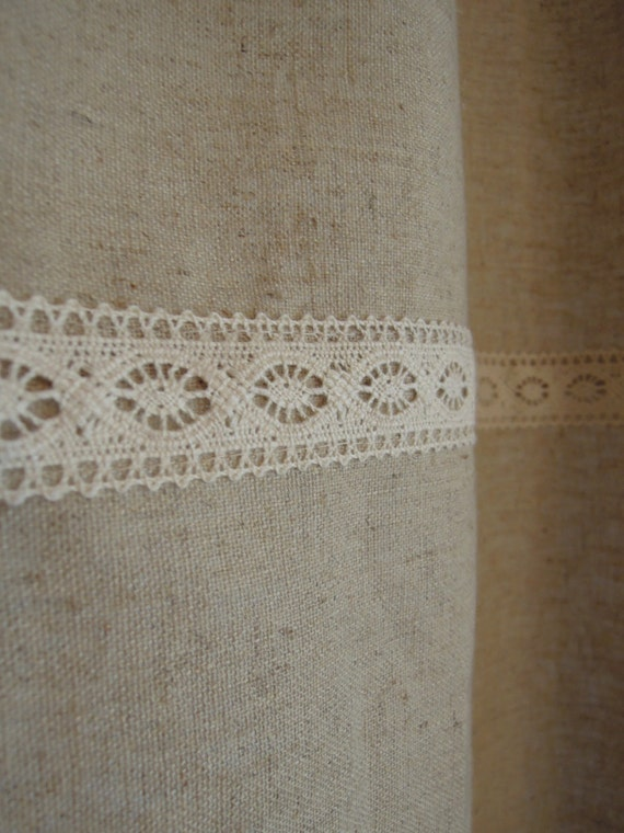 organic hemp bamboo shower curtain with lace bathroom eco