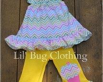 Cupcake Chevron Girls Outfit, Cupcake Birthday Girl Outfit, Cupcake Birthday Party Outfit, Custom Boutique Girl Clothes,