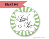 Thank You Labels - for Gift Bags -  Envelope Closures - Cupcake Toppers / DIGITAL FILE