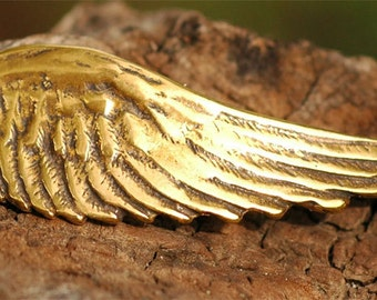 Angel Wing Bracelet Link with Loop in Gold Bronze -210Ab