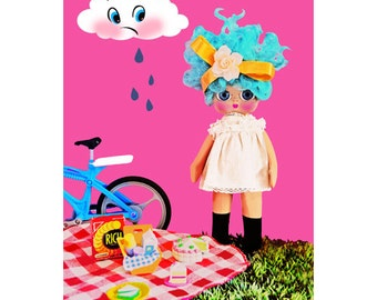 picnic doll print aceo size AWW NUTS