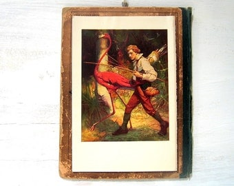 Swiss Family Robinson - 1909 Childrens Story Book Illustration