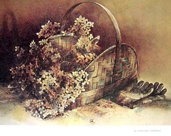 Last Bouquet, Two Measures, American Art, 1974 Vintage Book Page, 12.5 x 16